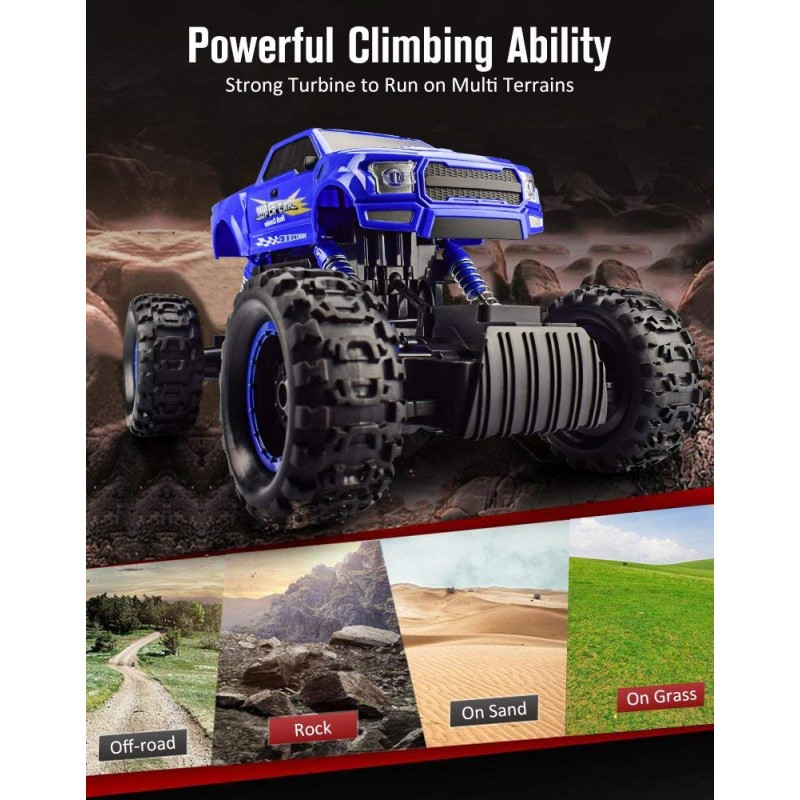 Bộ DOUBLE E 1:12 RC Cars Monster Truck 4WD Dual Motors Rechargeable Off Road Remote Control Truck
