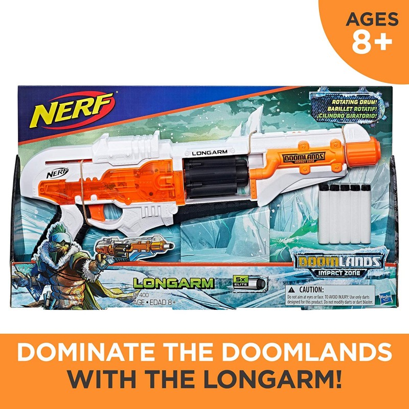 Súng Nerf Doomlands Toy Blaster with Flip-Open Drum