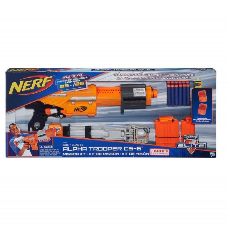 súng Nerf N-Strike Elite Alpha Trooper CS-6 Mission Kit