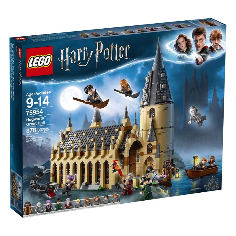 Bộ LEGO 6212644 Harry Potter Hogwarts Great Hall 75954 Building Kit and Magic Castle Toy