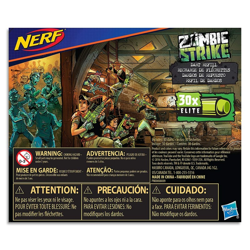 30-đạn zombie  Official Nerf Zombie Strike 30-Dart Refill Pack