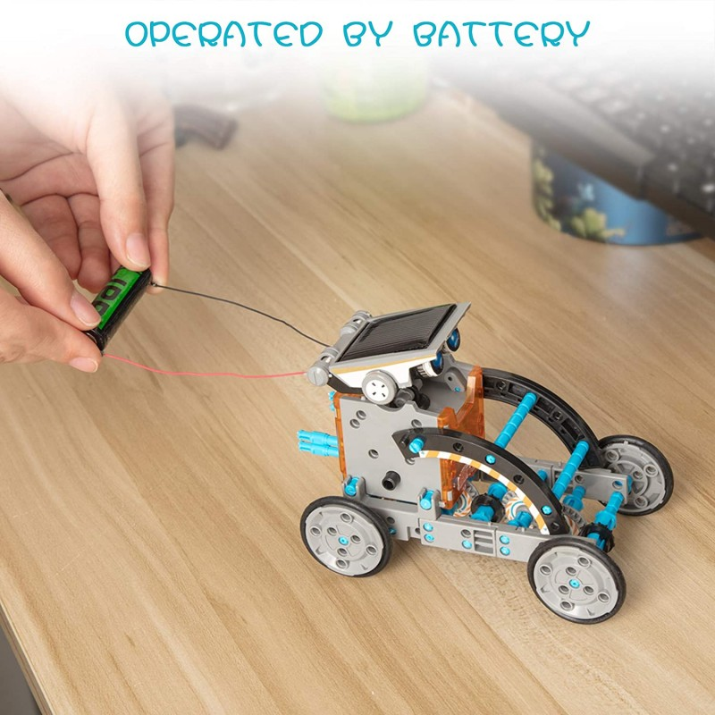 Robot dùng năng lượng mặt trời theo mô hình giáo dục STEM