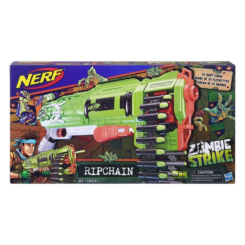 Súng Nerf Zombie Ripchain Combat Blaster